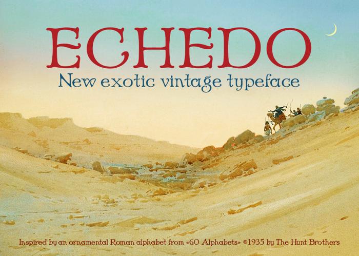 Echedo Font poster