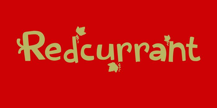 Redcurrant Font poster