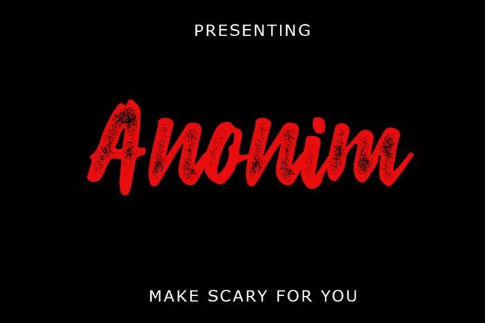 Anonim Rough Script Font poster