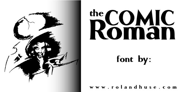 Comic Roman Font poster