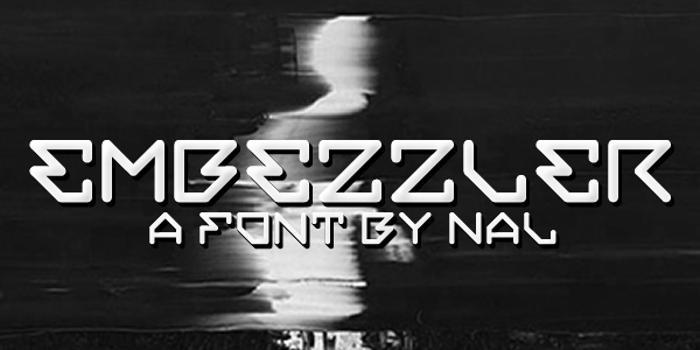 Embezzler Font poster
