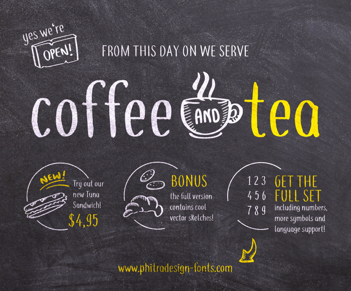coffee+tea Font poster