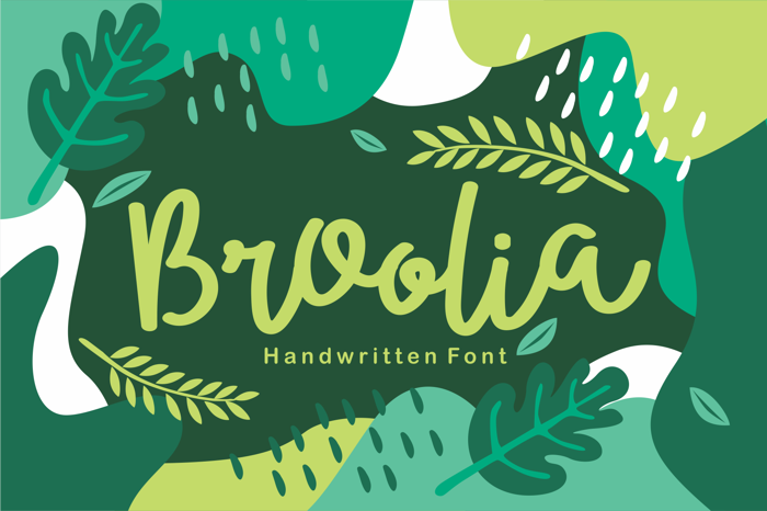 Broolia Font poster