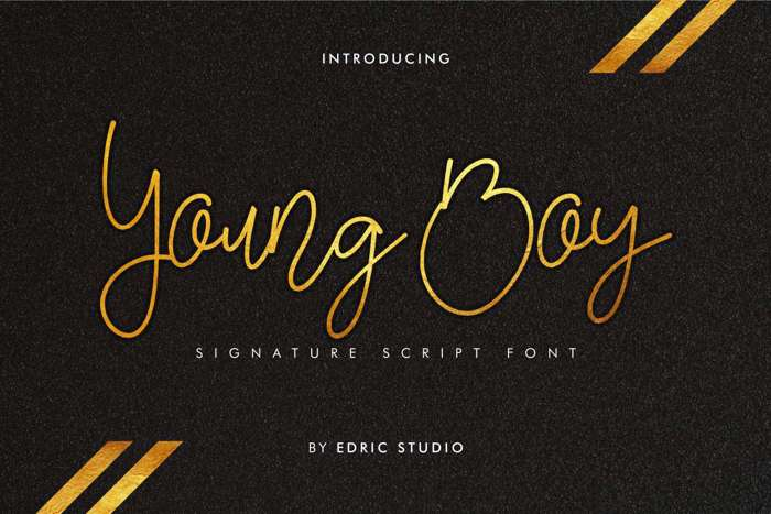Young Boy Font poster