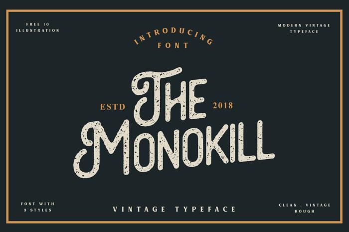 The Monokill  Font poster