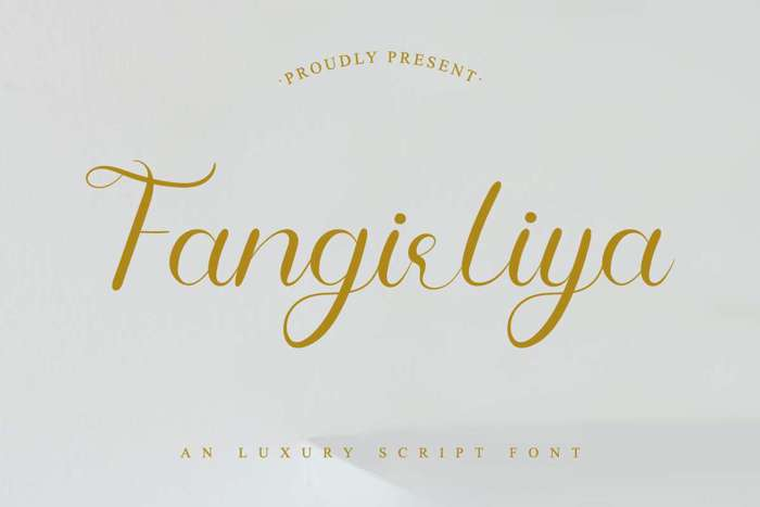 Fangirliya Font poster