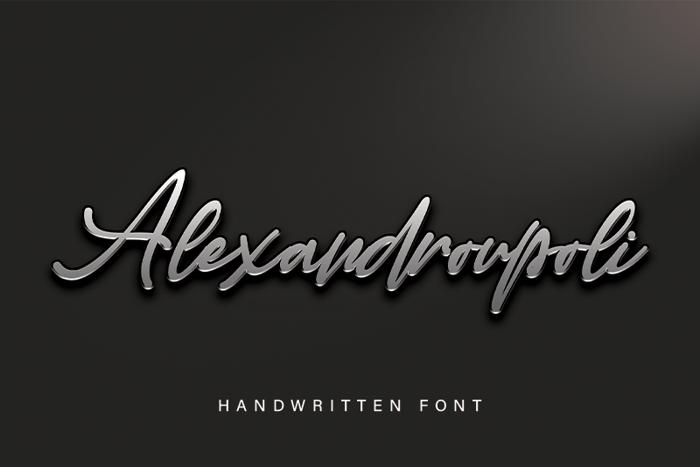 Alexandroupoli Font poster