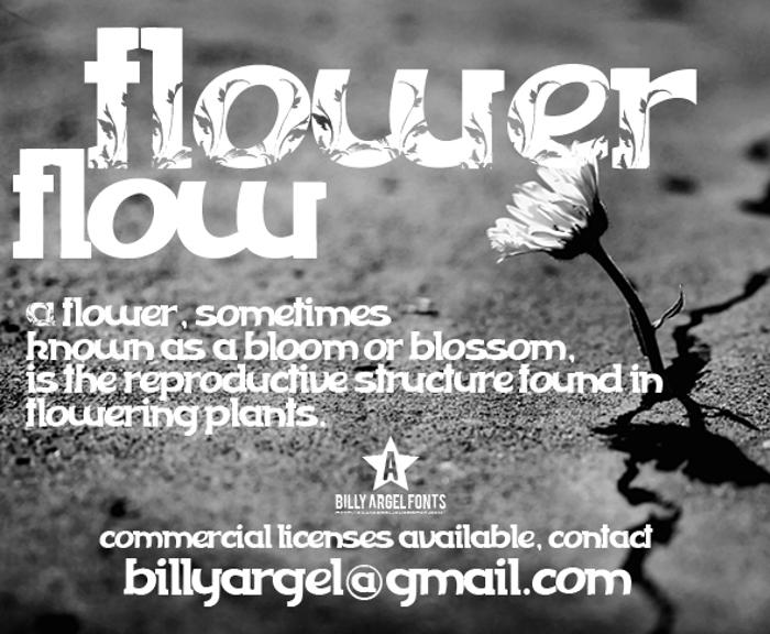 FLOWERFLOW Font poster