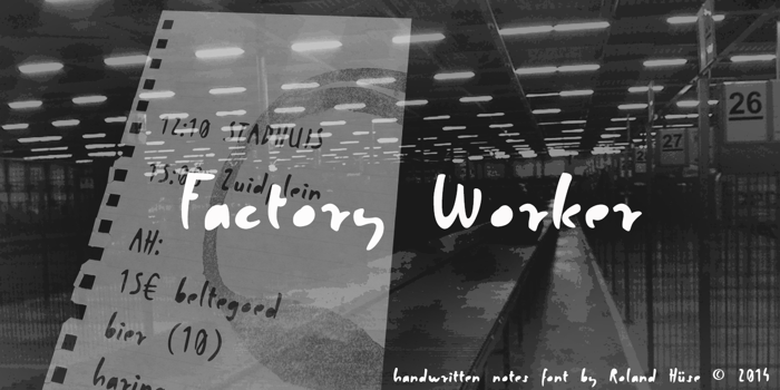 Factory Worker Font poster