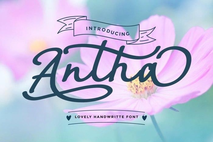 Antha Font poster