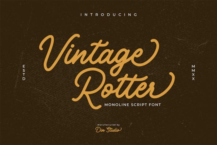 Vintage Rotter Font poster