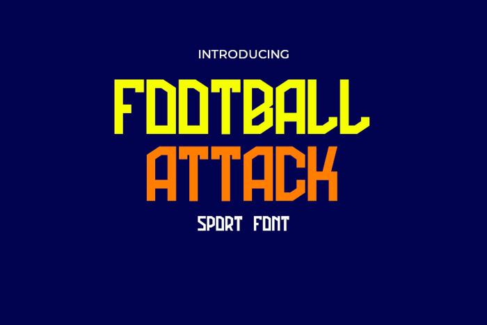 Football Attack Font poster