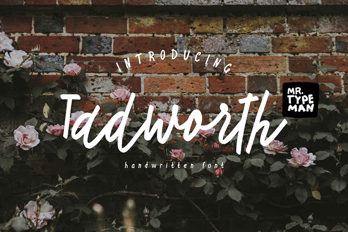 Tadworth Font poster