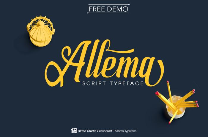 Allema Font poster