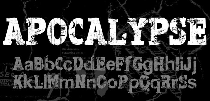 Apocalypse Regular Font poster