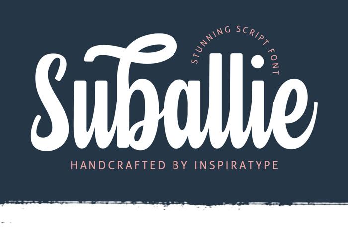 Suballie Font poster