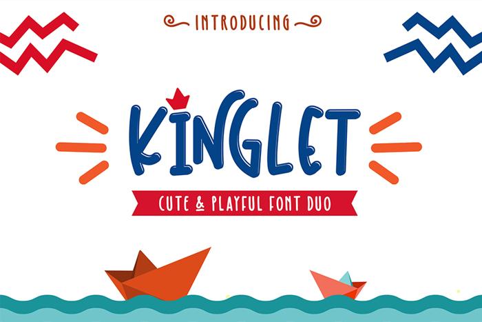 Kinglet Playful Font poster