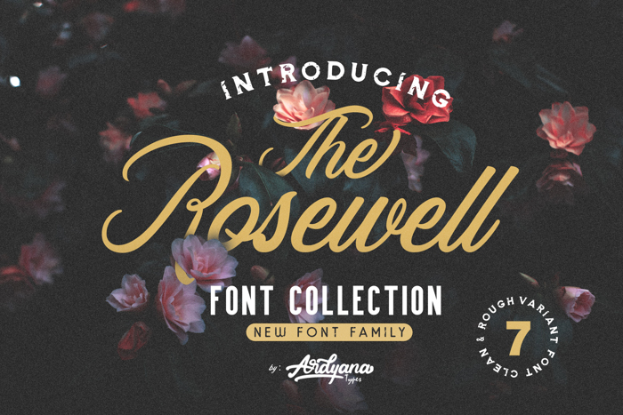 Rosewell Script Demo Font poster