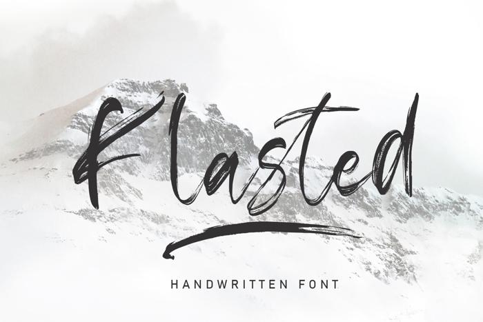 Klasted Font poster