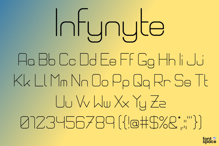 Infynyte Body Font poster
