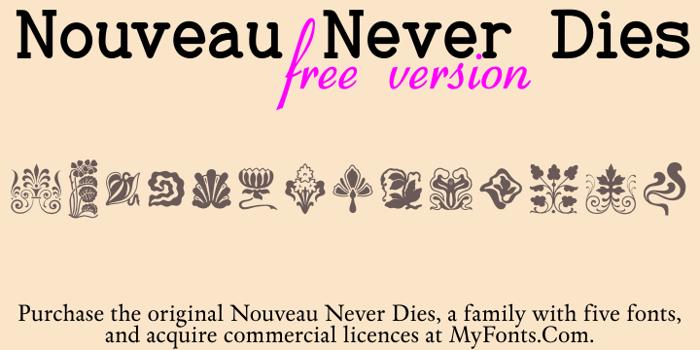 Nouveau Never Dies Free poster