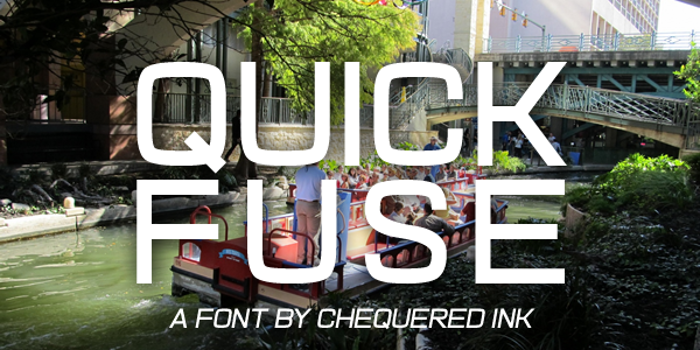 Quick Fuse Font poster