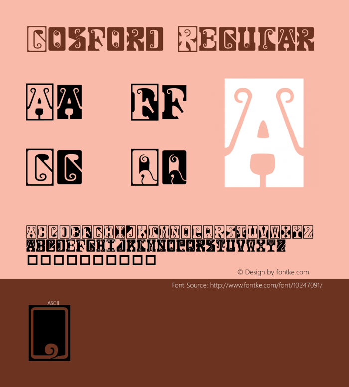 Gosford Font poster
