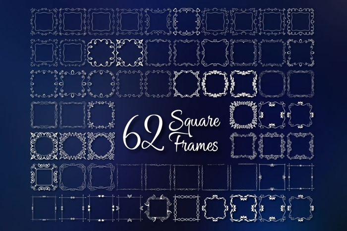 Square Frames Font poster