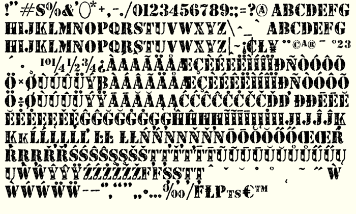 STENCILED Font poster