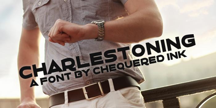 Charlestoning Font poster