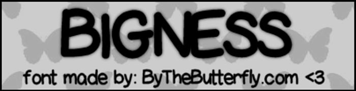 Bigness Font poster