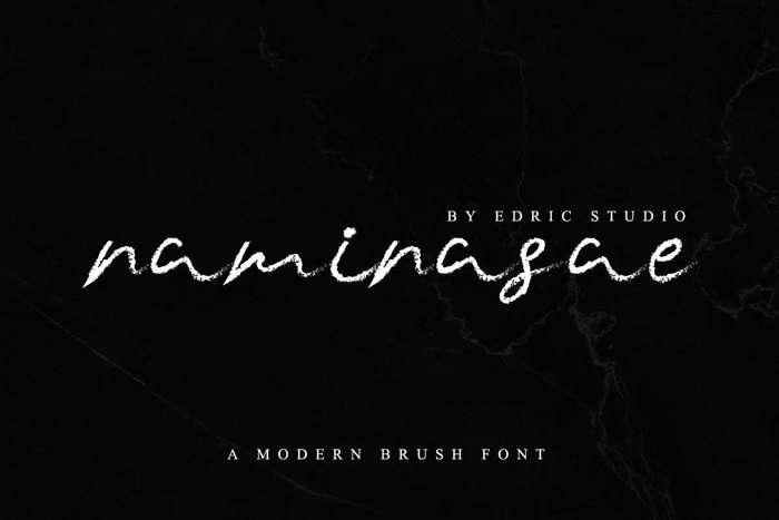 Naminasae Font poster