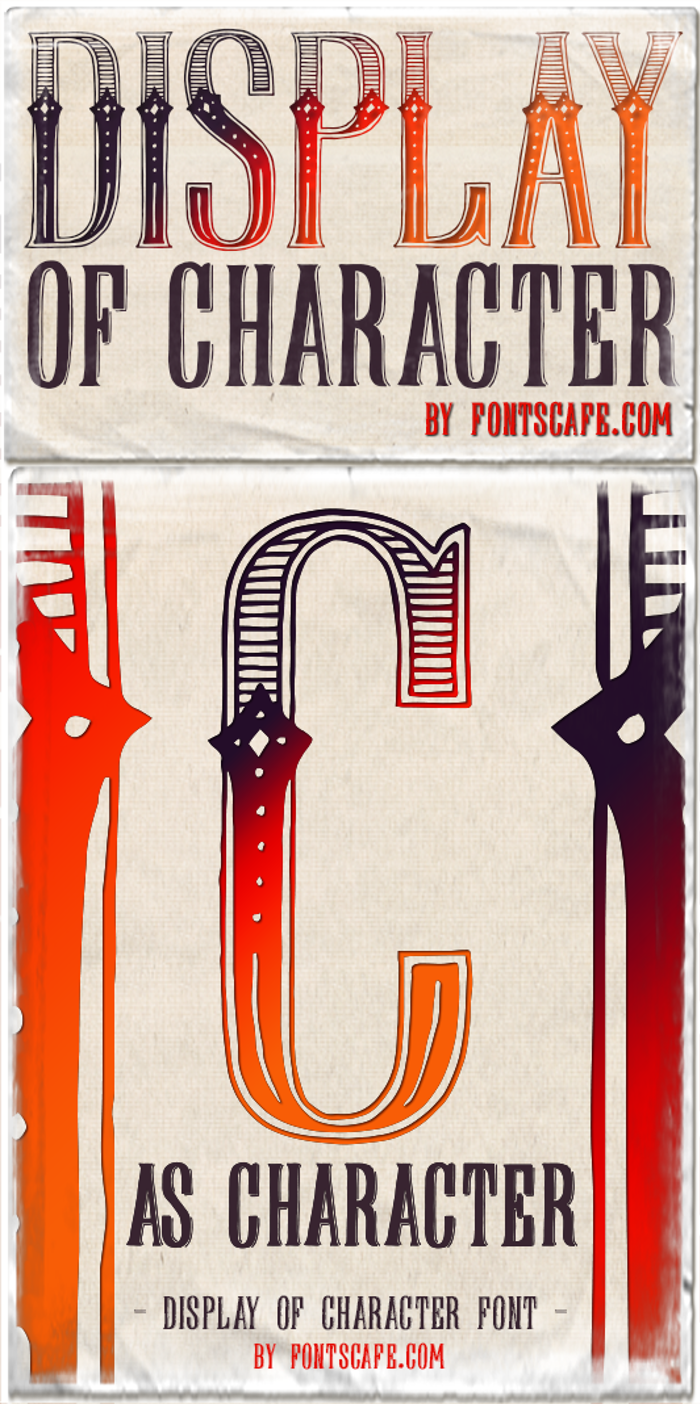 DisplayOfCharacter DEMO Font poster