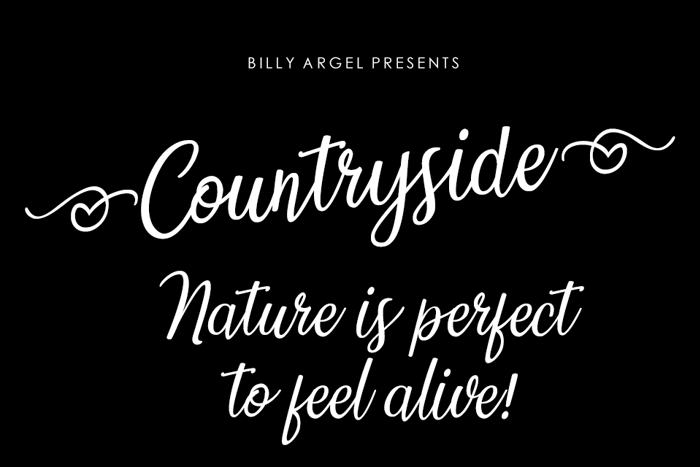 Countryside Font poster