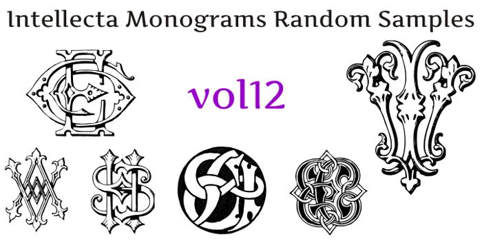 Intellecta Monograms Random Twelve Font poster