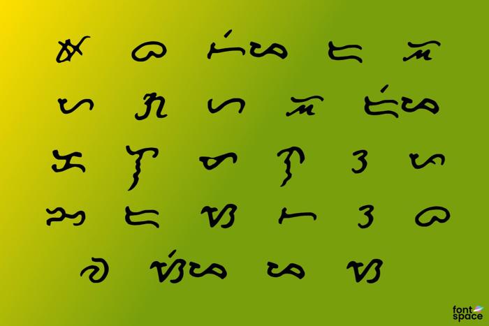Bonida Font poster