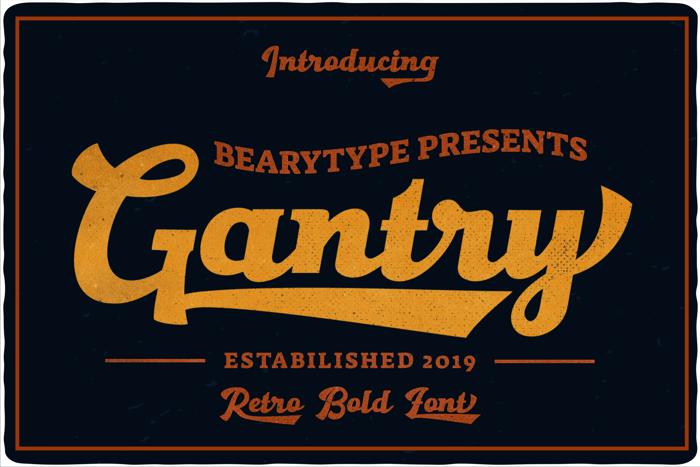 Gantry Font poster