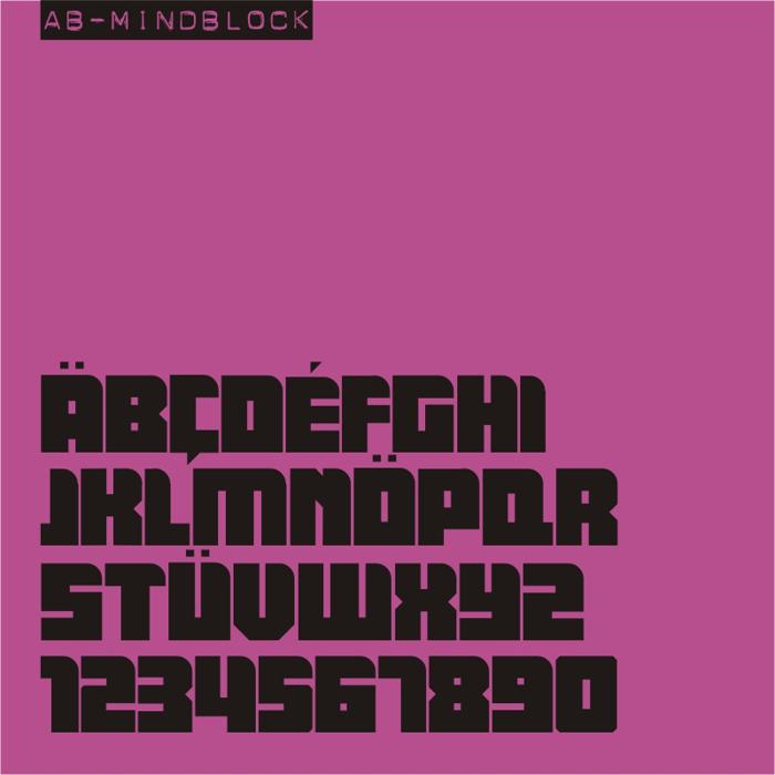 AB Mindblock Font poster