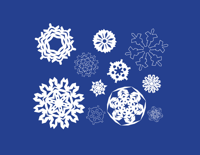 Paper Snowflakes Font poster
