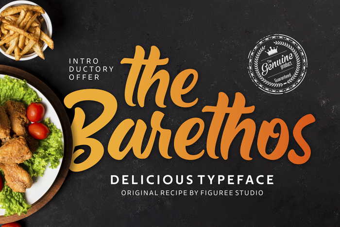 The Barethos Font poster