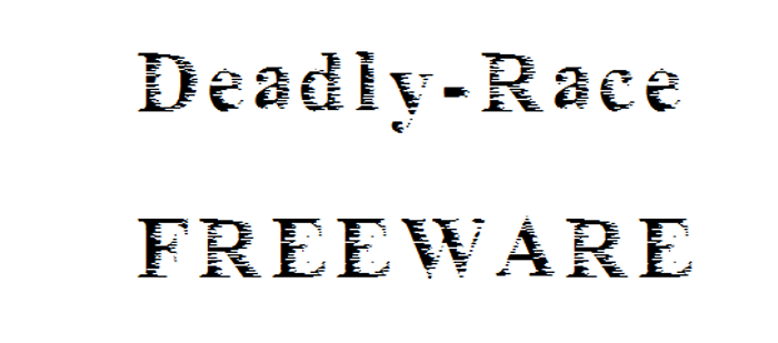 Deadly_race Font poster