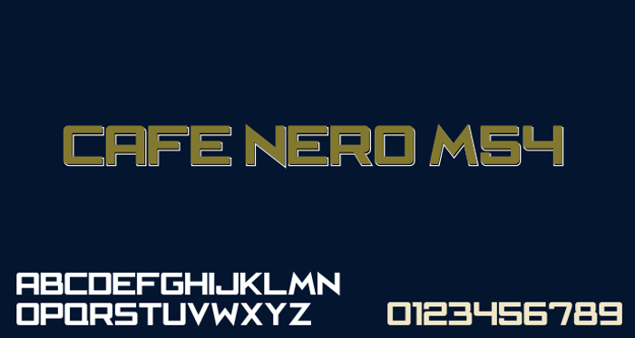 Cafe Nero M54 Font poster
