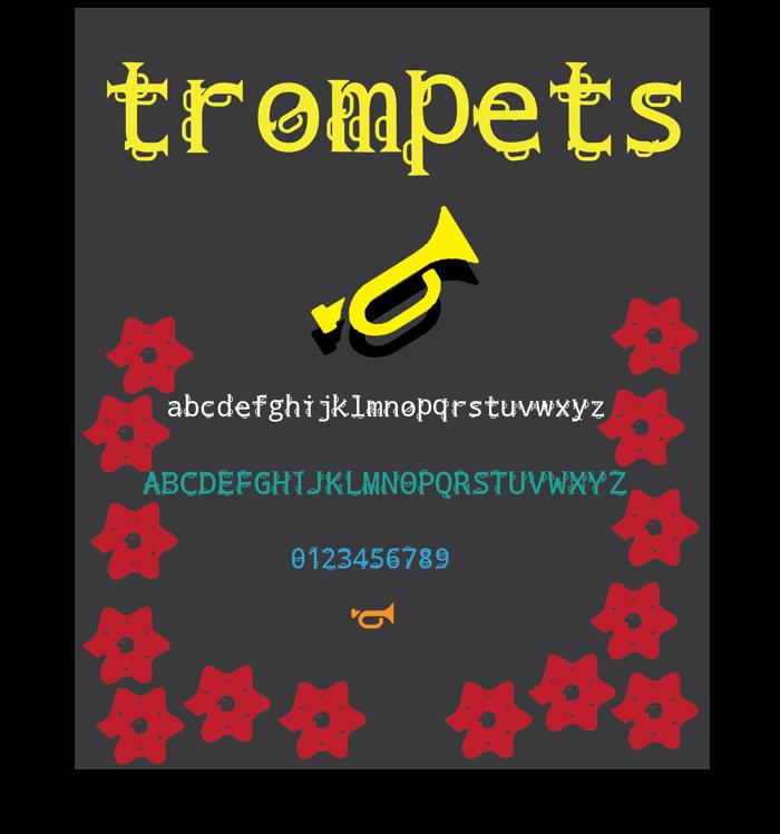 trompets Font poster