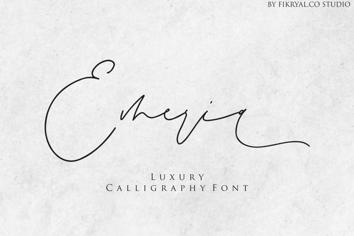 Emeria Font poster