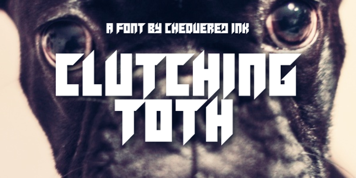 Clutching Toth Font poster