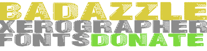 Badazzle Font poster