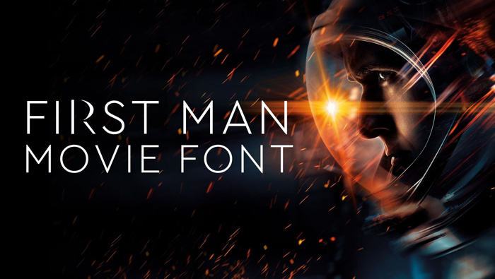 First Man Movie Font poster