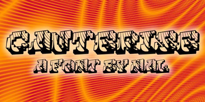 Cauterise Font poster