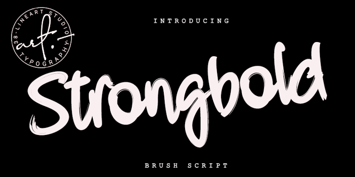 Strongbold Font poster