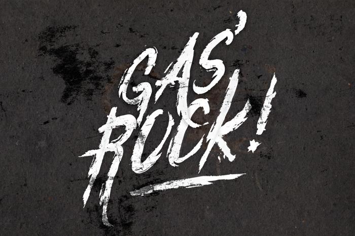 Gasrock Font poster